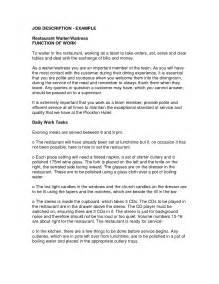Warden Resume Sle by Sle Waiter Resume Free Server 100 Images Resume For Restaurant Waitress Business Letters