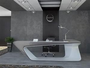 Futuristic Shaped Desk Modern Workspace Digsdig Modern L Shaped Desk Photos