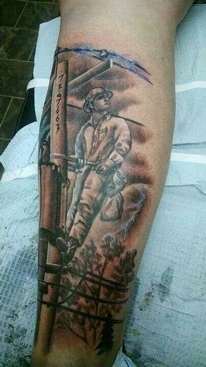 amazing linelife lineman tattoo power lineman lineman