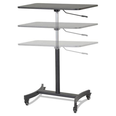 mobile sit stand desk high rise mobile adjustable sit stand workstation 30 3 4