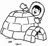Igloo Coloring Eskimo Drawing Printable Penguin Kid Happy Bulkcolor Clipartmag Letter sketch template