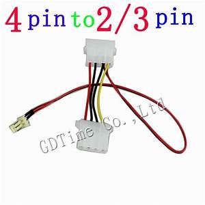 100pcs 12v 5v Computer 4pin Male Female To 2pin 3pin Male