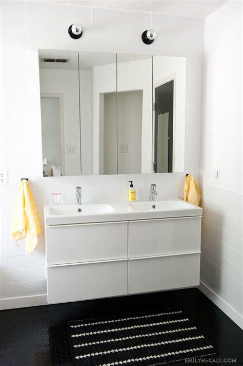 Ikea Mirror Cabinet Bathroom by Master Bathroom With Ikea Godmorgon Mirrored Medicine