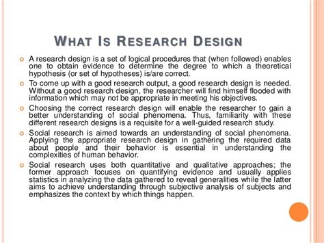 exle of research design types of research design for social sciences
