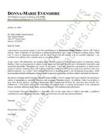 Elementary Teaching Cover Letter Elementary Cover Letter Sle Employment