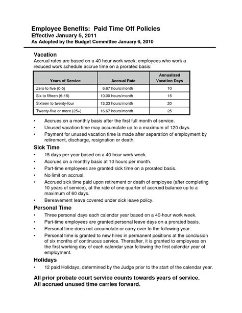 Paid Time Policy Template by Best Photos Of Pto Bylaws Template Sle Bereavement