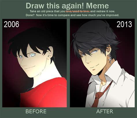 Bleeding Eyes Meme - progress meme thingy by danzzila on deviantart