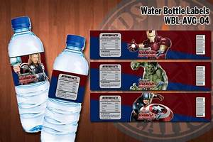 avengers water bottle labels printable personalized With avengers water bottle labels