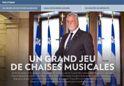 jeu des chaises musicales un grand jeu de chaises musicales la presse