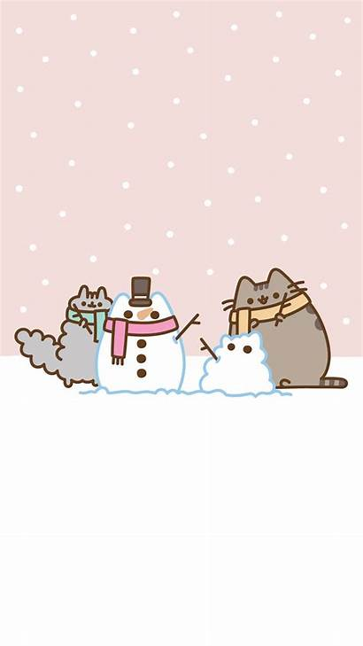 Pusheen Wallpapers Christmas Iphone Android Backgrounds Wallpaperaccess