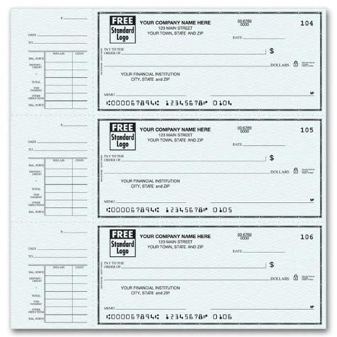 free payroll checks templates free printable check stubs template business