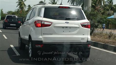 ford ecosport  wheel drive variant spotted testing