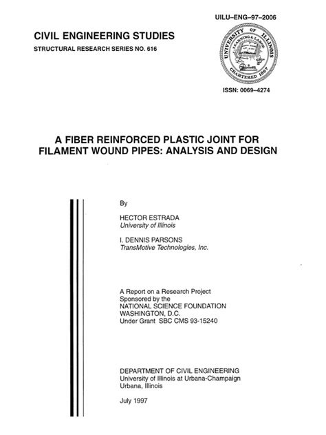 A fiber reinforced plastic joint for filament wound pipes