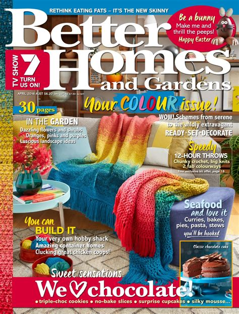 better homes and gardens magazine cover better homes and gardens australia april 2016 pocketmags com