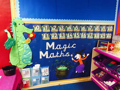 New Magic Maths Area! Julia Donaldson Themed #roomonthebroom #earlyyears  Class 1 Pinterest