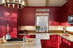 80 cool kitchen cabinet paint color ideas With kitchen colors with white cabinets with metal wall art red