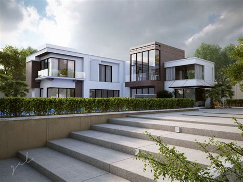 L Shaped Home Design : Review L Shaped House Plans Modern