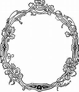 Free Clipart Of A Fancy Floral Frame