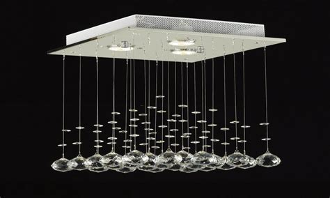 Contemporary Led Ceiling Lights Crystal Ceiling Fixture