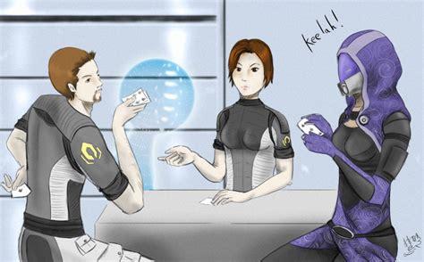 The Cheat  Mass Effect Poker By Cepheala On Deviantart