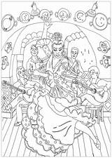 Coloring Stress Zen Anti Adults Colorare Disegni Colorear Adulti Erwachsene Malbuch Fur Flamenco Adultos Dance Justcolor Mandala Spain Adult Dancers sketch template
