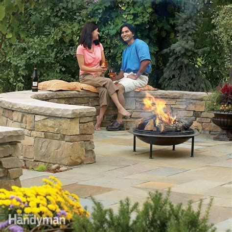 build a flagstone and block patio the family handyman