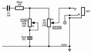 Unbalanced Piezo Preamp  U2013 Volume And Tone Controls