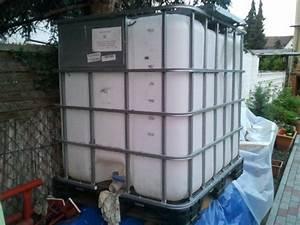 Wassertank 1000l kunststoff alupalette incl wassertank for Französischer balkon mit wassertank garten 1000l
