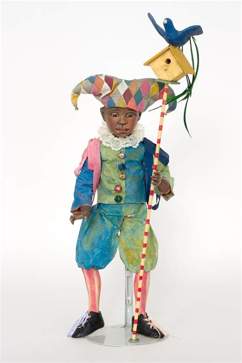 harlequin paperclay    kind art doll  nancy wiley