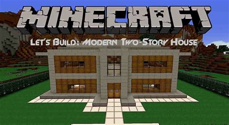 lets build modern  story house  minecraft youtube