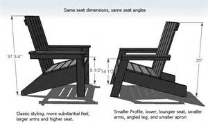 ana white modish adirondack chair diy projects