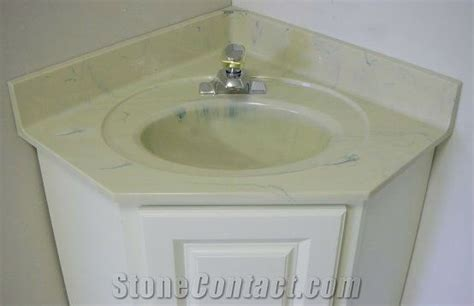 Yellow Bathroom Vanity Tops by China Yellow Marble Engineered Bathroom Vanity Tops With