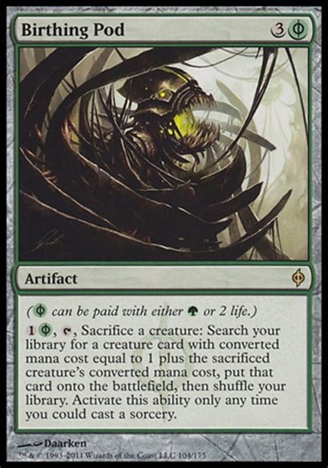 New Phyrexia Green Event Deck by Birthing Pod New Phyrexia