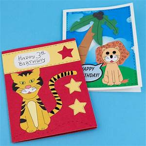 Make Lion and Tiger Birthday Cards for Kids Greeting