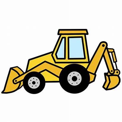 Clip Backhoe Clipart Digger Equipment Bulldozer Cliparts