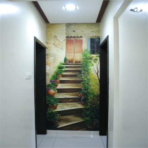3d paintings on wall 3d wall painting home design