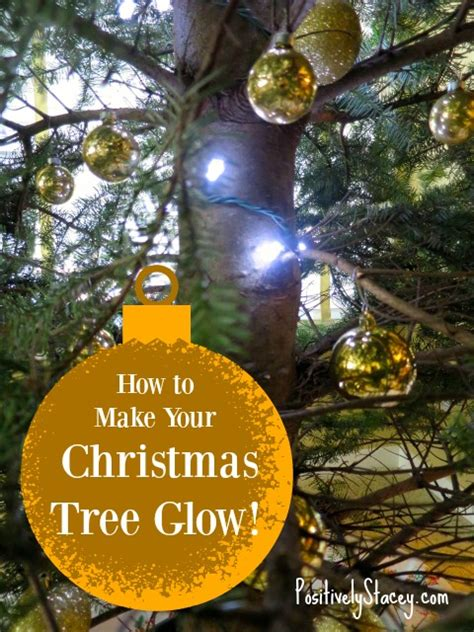 how to make your christmas tree glow and how to fix broken