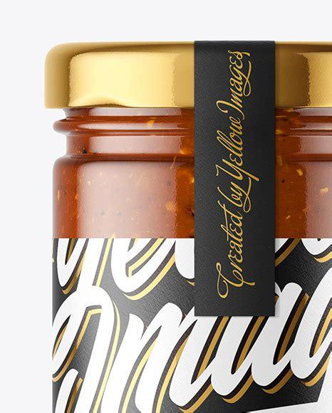 Free mockup free mockups clear glass jar with peanut butter mockup object mockups psd template. Clear Glass Jar with Sweet Chili Sauce Mockup in Jar ...