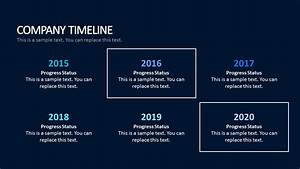 Modern corporate timeline template vignette for Deal review template
