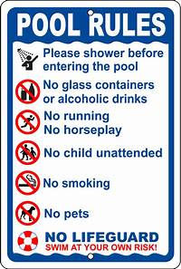 pool rules sign Pool : Pecos Signs - Made in the USA, Pecos Signs - 100% ...