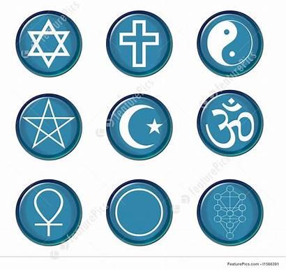 Religious Symbols Symbol Illustration Featurepics Buttons