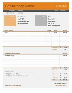 Consultant invoice template for excel for It consultant invoice template