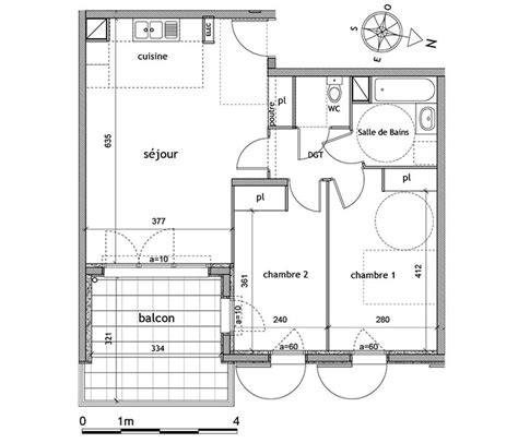 plan appartement 2 chambres plan appartement 60m2 2 chambres