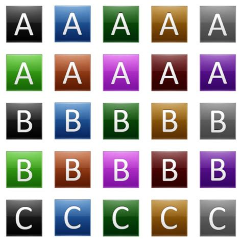 set of alphabet letters and icons for alphabet design multipurpose alphabet icons free icon packs ui 39852