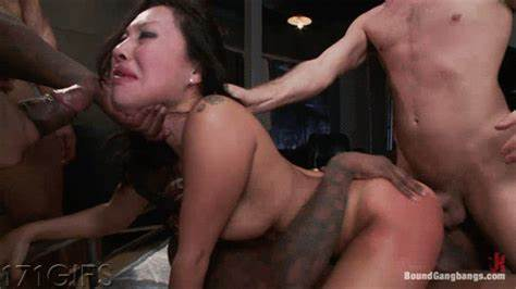 Beauty Black Hair Blows Double Penis And Dped Rigid