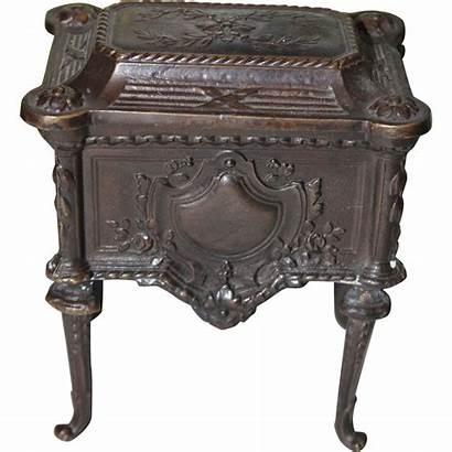 Metal Antique Bronze Chest French Shops Houses