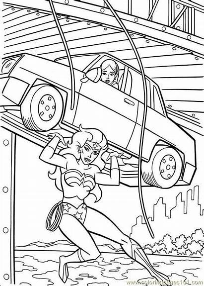 Wonder Woman Coloring Pages Printable Cartoons