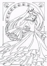 Nouveau Line Coloring Deviantart Pages Drawings Naro Colouring Lineart Fantasy Adult Books Popular Funny Coloringhome sketch template