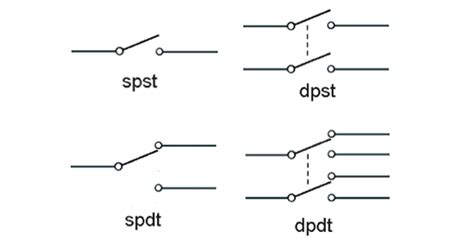 dpst  dpdt relay wiring differences
