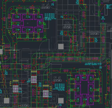 Hvac Drawing In Autocad by Hvac Shop Drawings Quickpro Cad